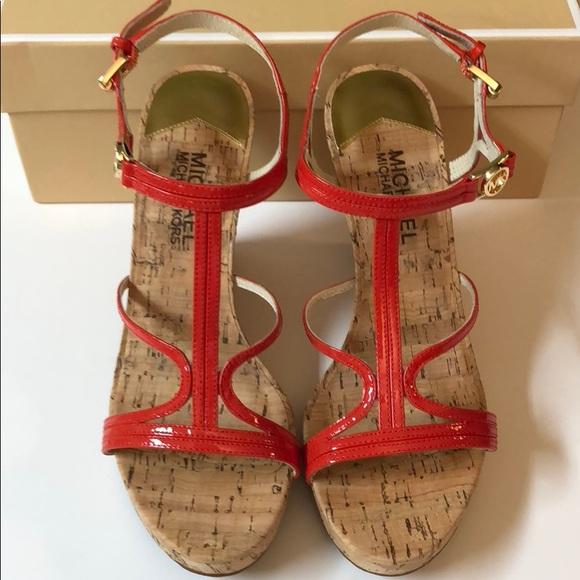 94dad2b2441 Michael Kors Cicely Wedge Sandals Size 7-NIB